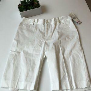 Ralph Lauren White Bermuda Shorts NWT! Sz 8